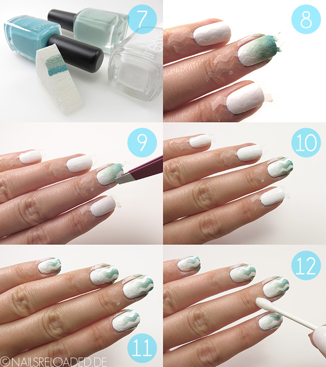 Nageldesign - Zickzack Mint - Tutorial