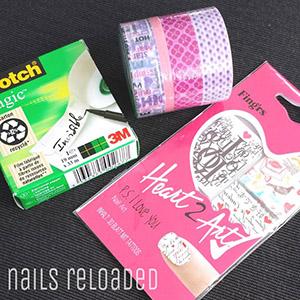 Scotch Tape Magic, Washi Tape und Water Decals