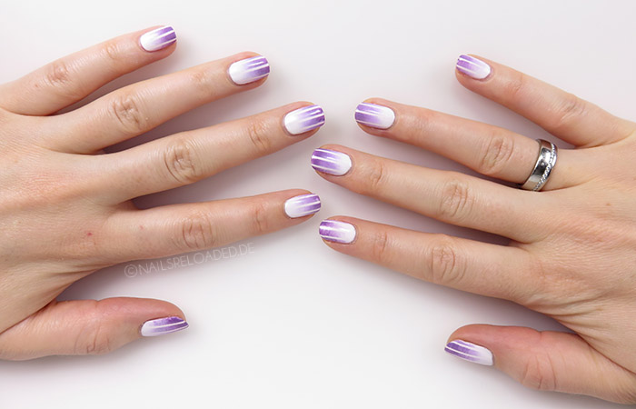 Nageldesign - Tape + Gradient