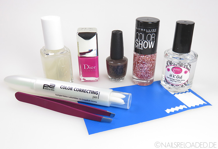 Nageldesign - mixed pink: benutzte Produkte