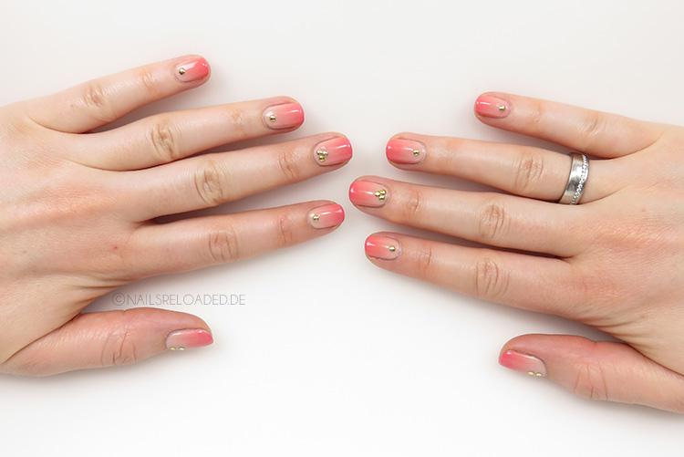Nageldesign - Pfirsich Farbverlauf