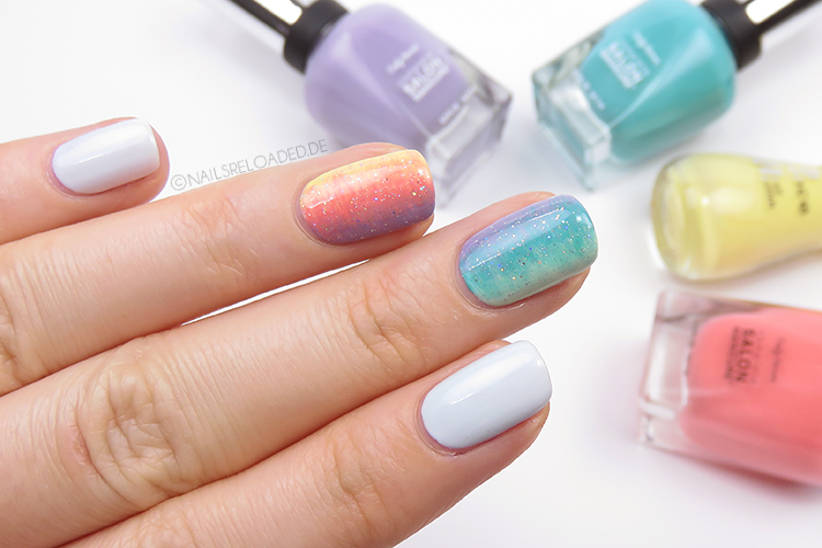 Nageldesign - Regenbogen
