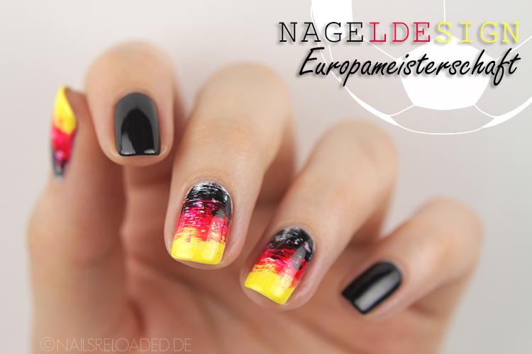 Nageldesign - EM 2016 Deutschland