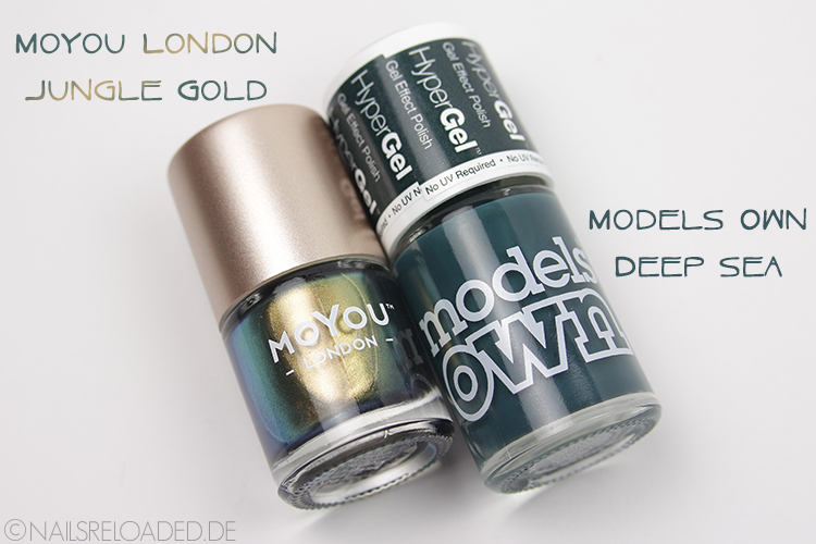 "MoYou London ""Jungle Gold"" und Models Own ""Deep Sea"""