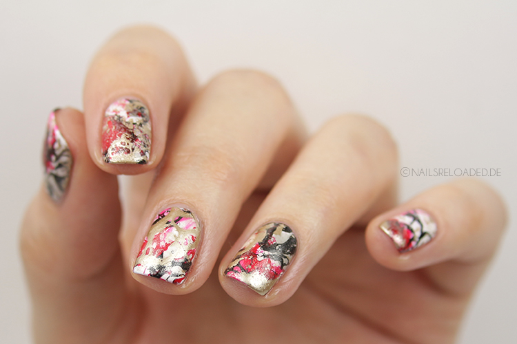 Nageldesign - water spotted nails