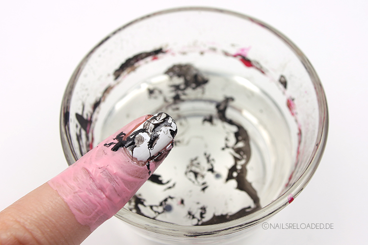 water spotted nails - making of