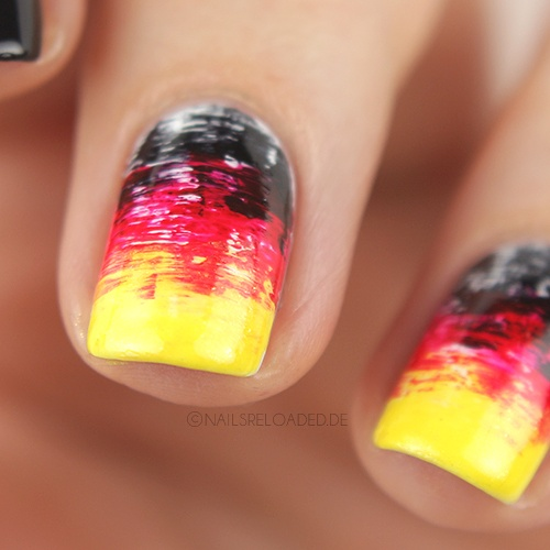 Nageldesign - dry brush