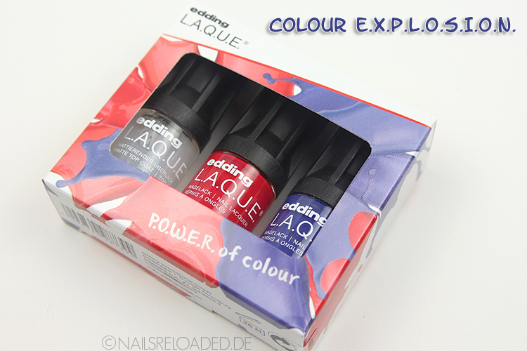 Nagellack-Set von edding L.A.Q.U.E. - colour E.X.P.L.O.S.I.O.N.