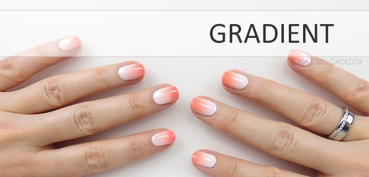 nageldesign gradient farbverlauf