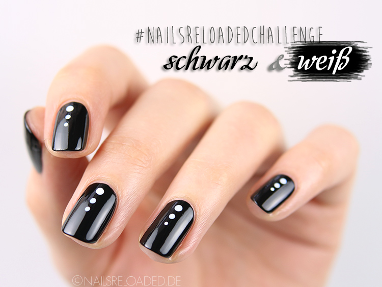 nails reloaded nailsreloaded challenge nageldesign schwarz weiss. Black Bedroom Furniture Sets. Home Design Ideas