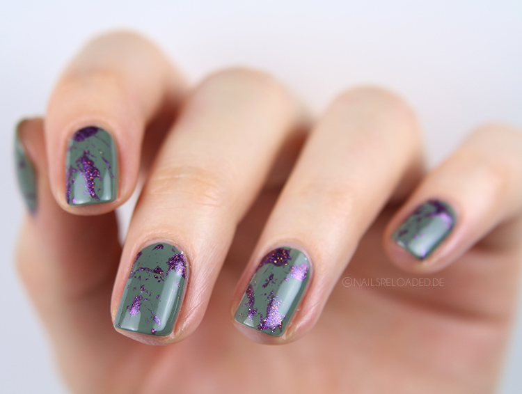 Splatter Nailart