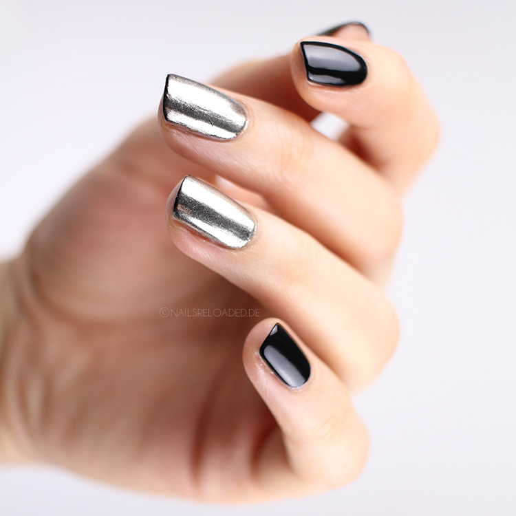 Chrome Nägel mit Nagellack