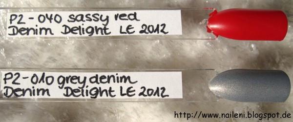 P2 Denim Delight - 040 sassy red / 010 grey denim