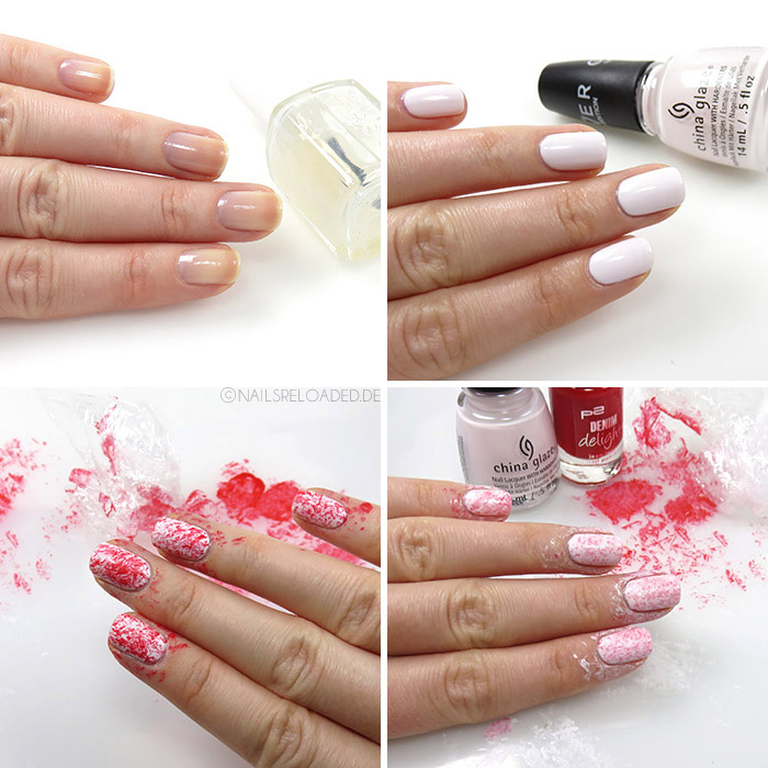 Nageldesign - Tutorial: plastic wrap