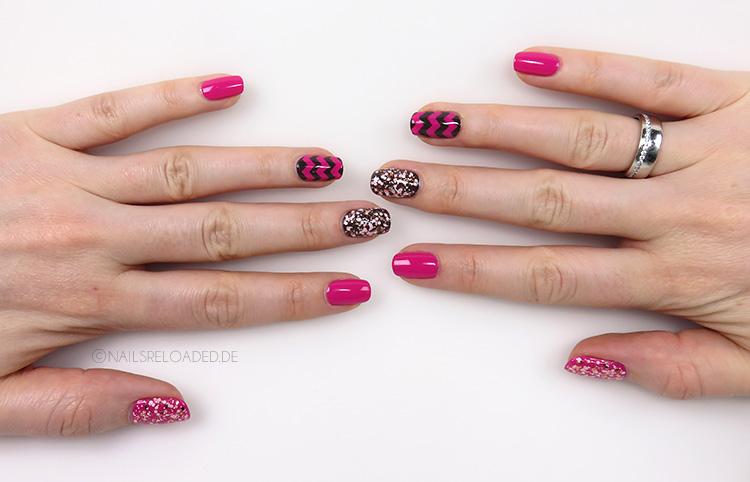 Nageldesign - mixed pink