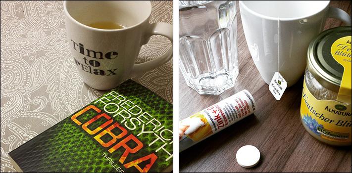 Tee und Tee und Zinktabletten