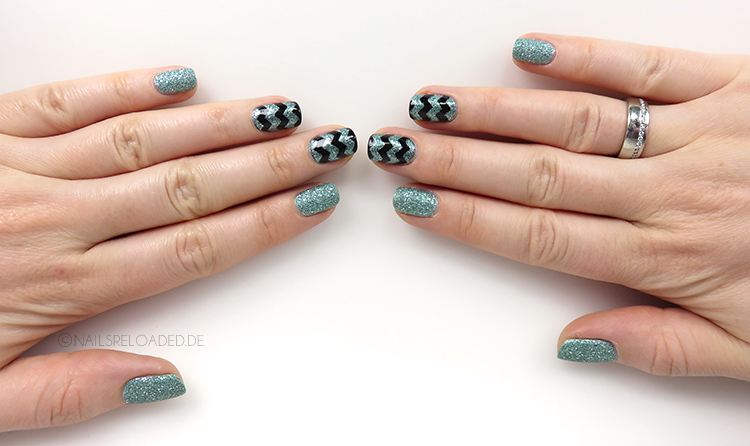 Nageldesign - sand + chevron