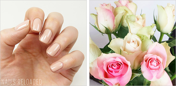 Sally Hansen - Blush at Dusk und frische Rosen