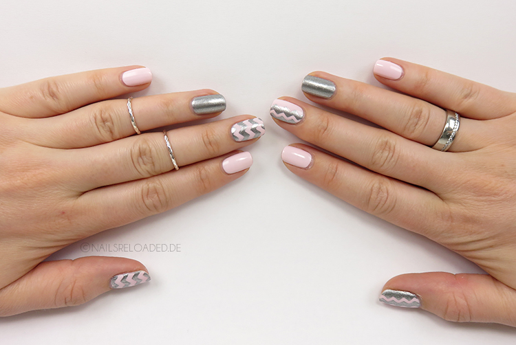 Nageldesign - chevron fiji