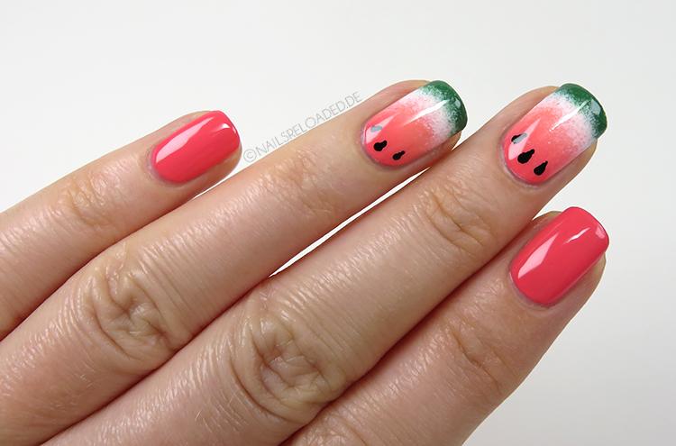 Nageldesign - Wassermelone