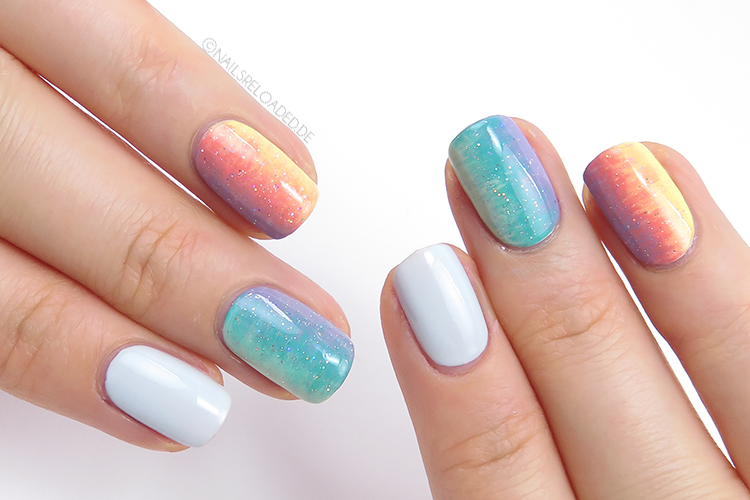 Nageldesign - Regenbogen