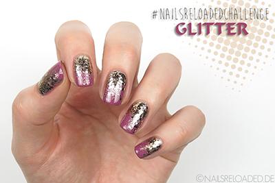 #nailsreloadedchallenge Glitter