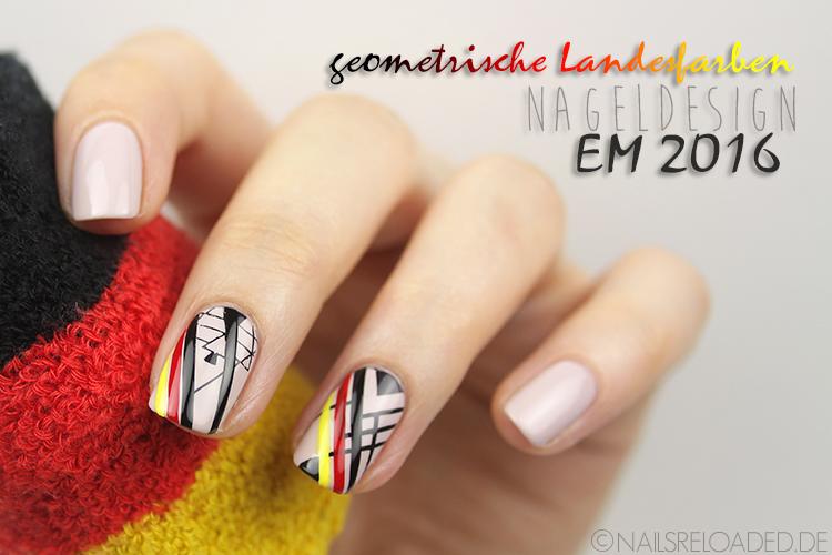 EM Deutschland Nageldesign