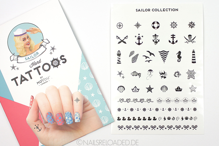 MoYou London Hand Tattoos - Sailor Collection