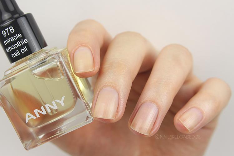 miracle smoothie nail oil von ANNY nach dem Einmassieren