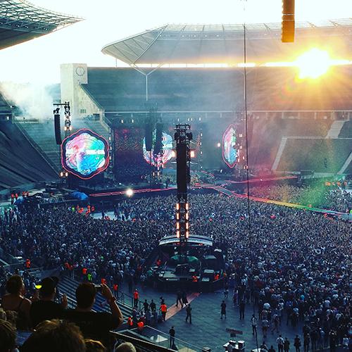 Coldplay Konzert in Berlin