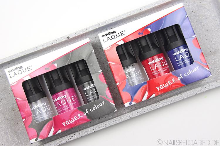 Mini-Nagellack-Sets von edding L.A.Q.U.E.