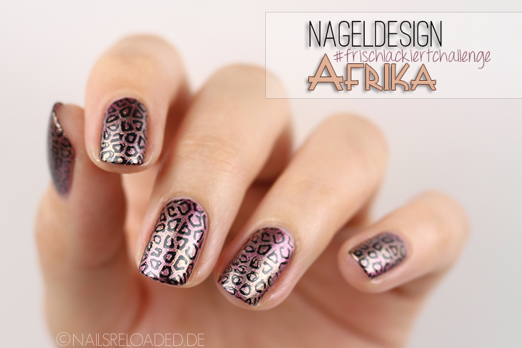 Nageldesign Leoparden Stamping