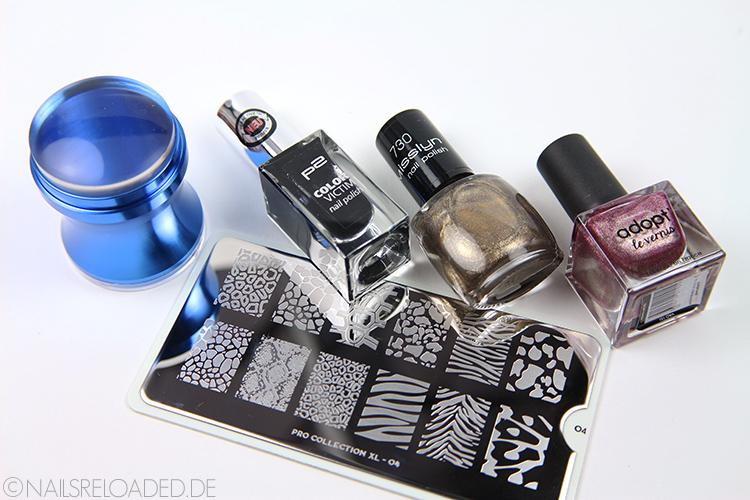Stamping-Nageldesign: verwendete Produkte
