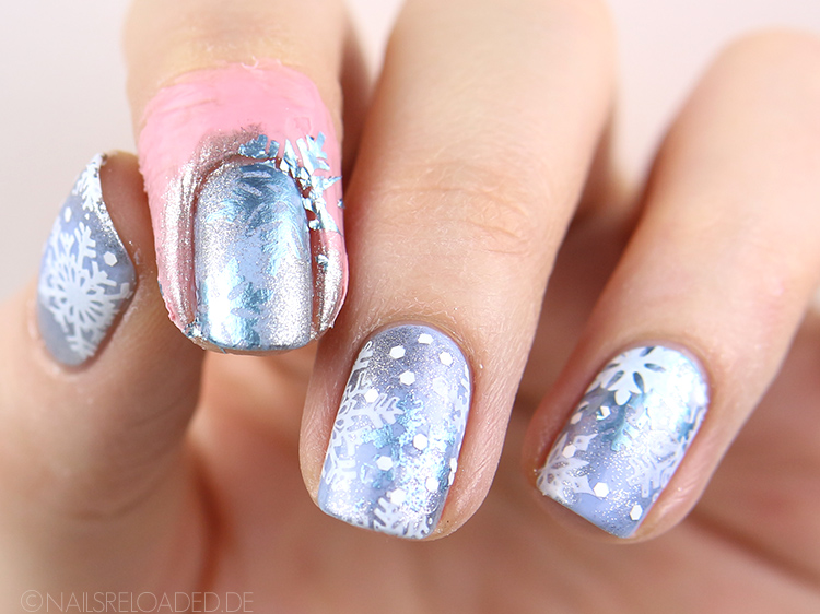 Nageldesign Tutorial Schneeflocken