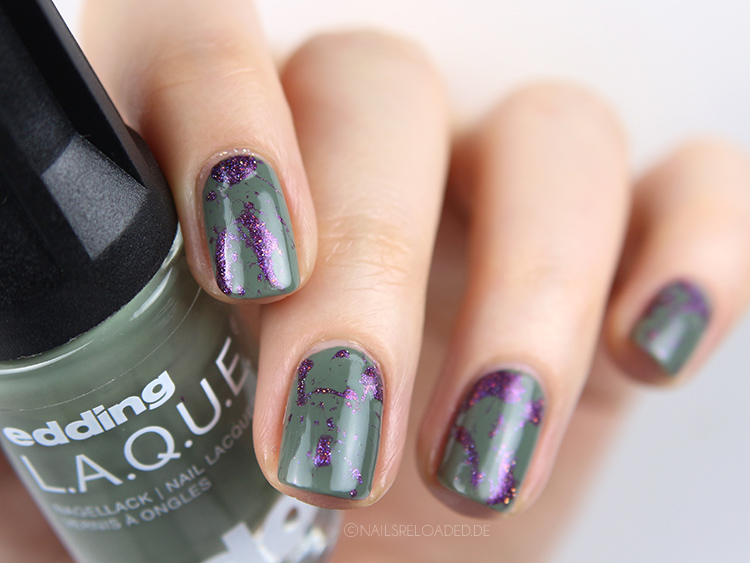 Holo Splatter Nails