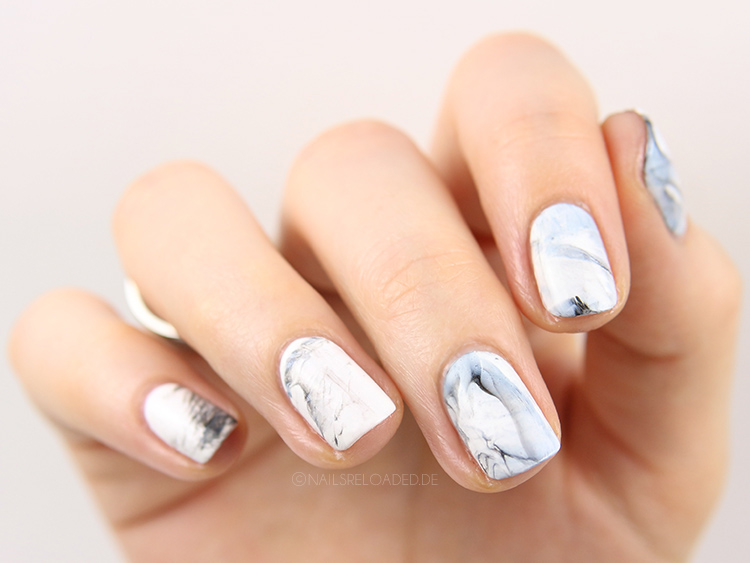 Nageldesign Marmor Nägel