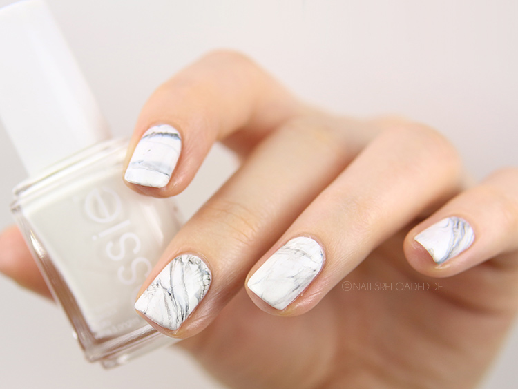 dry marble nailart