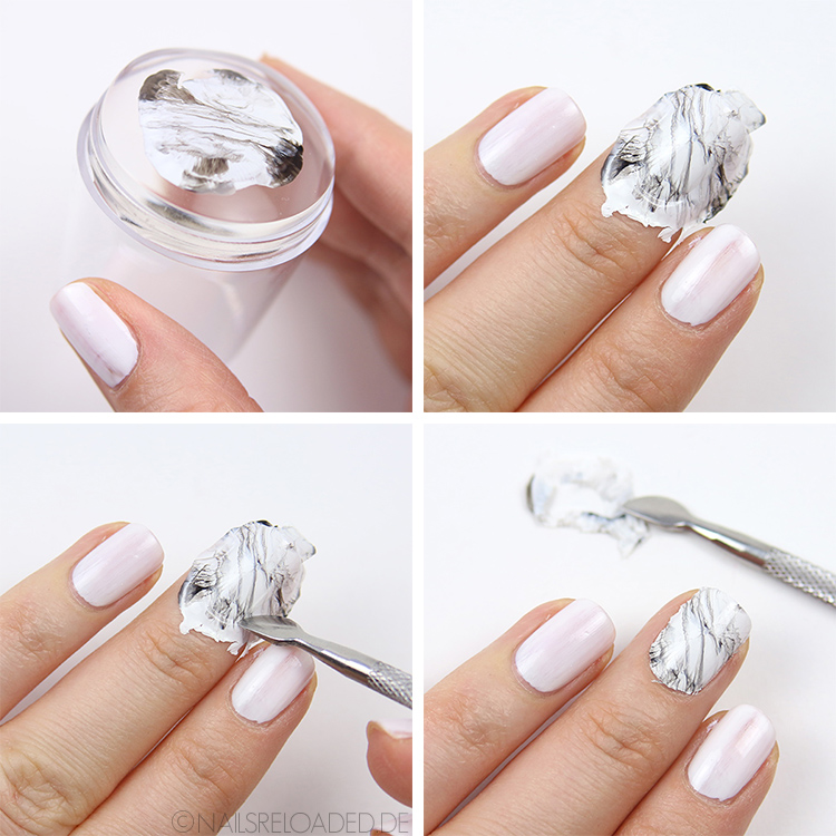dry marble nails tutorial