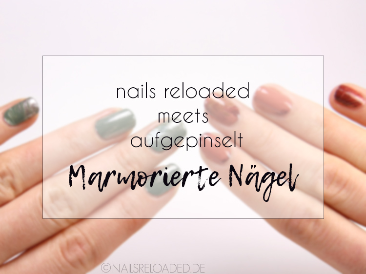 Nageldesign marmorierte Nägel