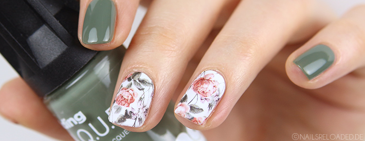 Nageldesign Blumen Sticker