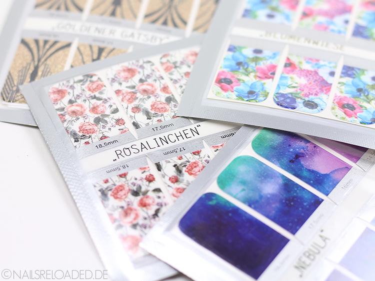 Sticker Gigant Goldener Gatsby Rosalinchen Blumenwiese Nebula