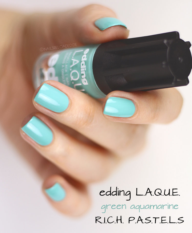 edding LAQUE green aquamarine - RICH PASTELS Limited Edition