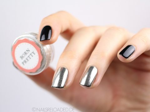 Nageldesign Chrome Puder