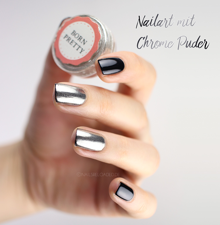 Nailart mit Chrome Puder