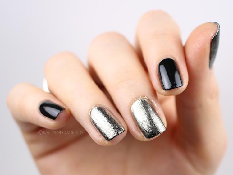 Chrome Nägel mit normalem Überlack
